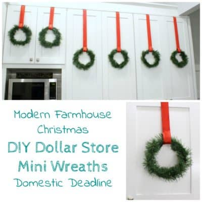 DIY Dollar Store Mini Wreaths