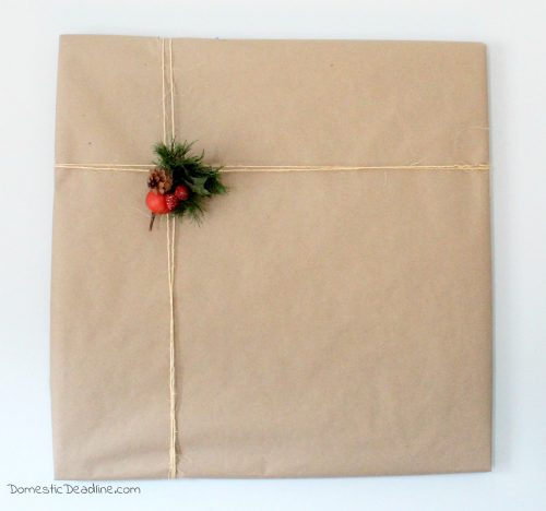 Gift Wrapping a House for our Modern Farmhouse Christmas Decor- Miracle on 34th Street - Domestic Deadline