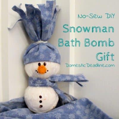 Snowman Bath Bomb Gift