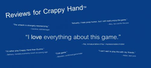 Crappy Hand - New Party Game - Stocking Stuffer - Domestic Deadline
