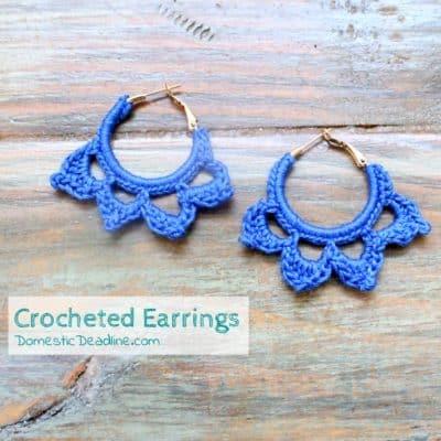 Crocheted Earrings and Pinterest Inspiration