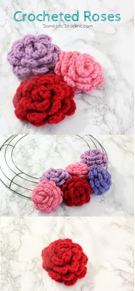 Easy Crocheted Roses – Movie Monday Challenge by Domestic Deadline.