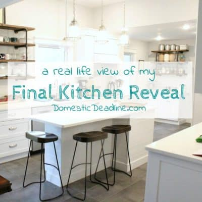 Final Kitchen Reveal… Kinda