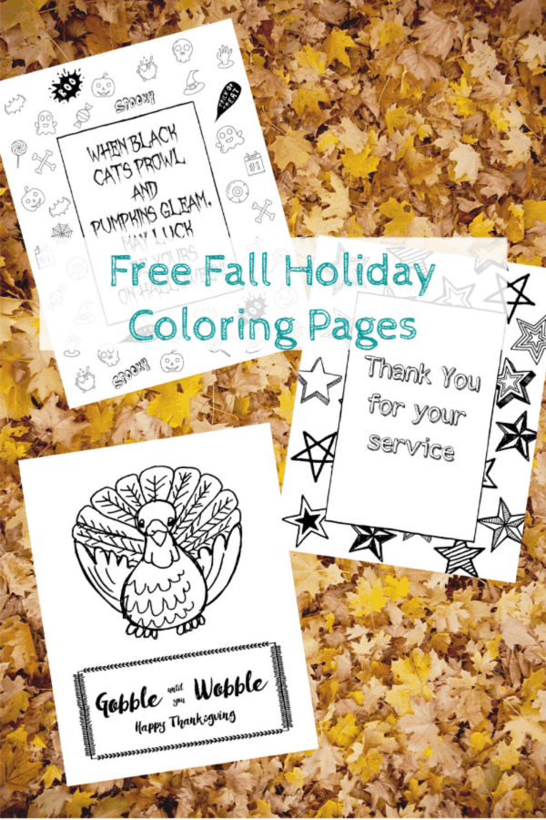 Free Fall Holiday Coloring Pages Domestic Deadline