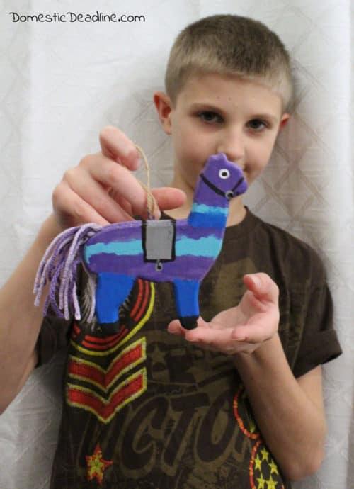 DIY Fortnite Loot Llama Ornament - Christmas Kid's Craft