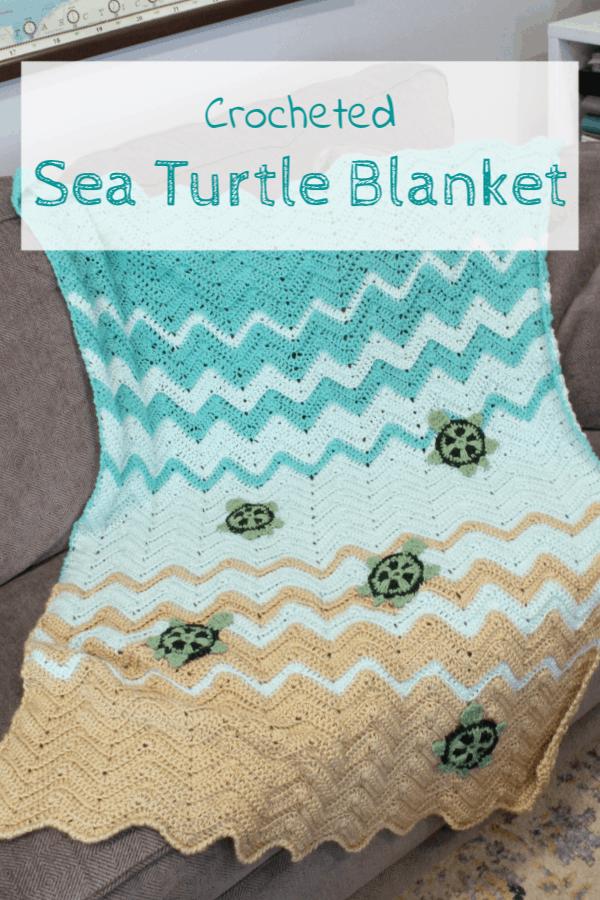 Crocheted Sea Turtle Blanket Domestic Deadline
