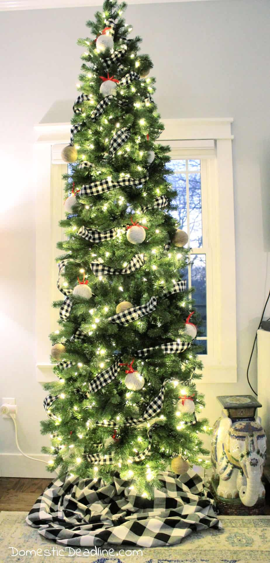 Buffalo Check Christmas Tree Domestic Deadline
